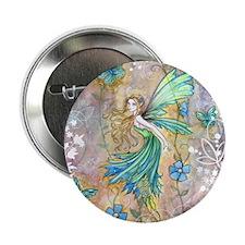 """Enchanted Garden Fairy Fantasy Art 2.25"""" Button"""