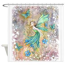 Enchanted Garden Fairy Fantasy Art Shower Curtain