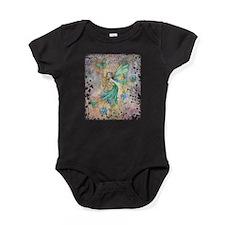 Enchanted Garden Fairy Fantasy Art Baby Bodysuit