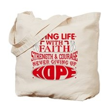 Mesothelioma Faith Tote Bag