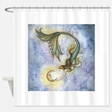 Deep Sea Moon Mermaid Fantasy Art Shower Curtain