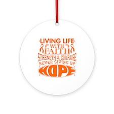 Leukemia Faith Ornament (Round)