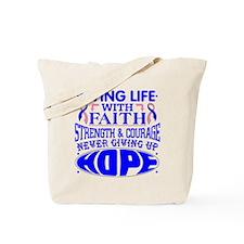 Male Breast Cancer Faith Tote Bag