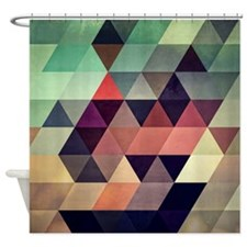 Unique Geometric Shower Curtain