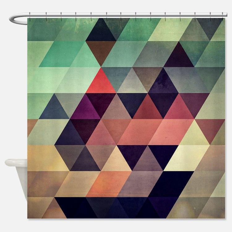 Geometric Shower Curtains Geometric Fabric Shower Curtain Liner