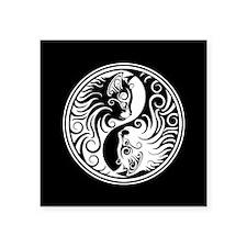 White and Black Yin Yang Kittens Sticker