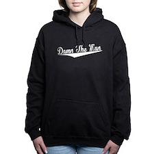 Damn The Man, Retro, Women's Hooded Sweatshirt