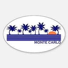 Monte Carlo Blue Sunset Oval Decal