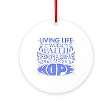 Intestinal Cancer Faith Ornament (Round)