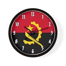 Flag of Angola Wall Clock