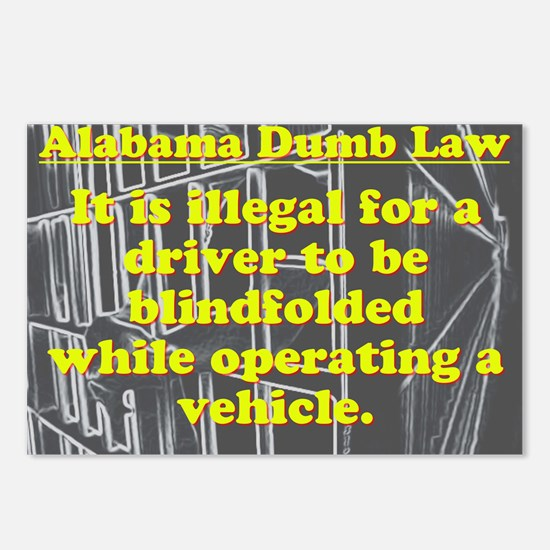 Alabama Dumb Law #7 Postcards (Package of 8)
