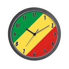 Congo Republic Flag Wall Clock