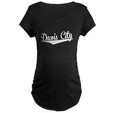 Davis City, Retro, Maternity T-Shirt