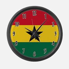 Flag of Ghana Large Wall Clock