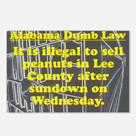 Alabama Dumb Law #6 Postcards (Package of 8)