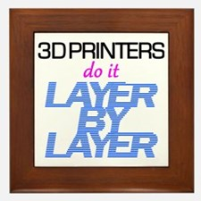 3D Printers do it layer by layer Framed Tile