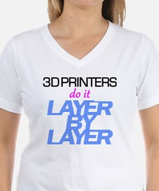 3D Printers do it layer by  Shirt