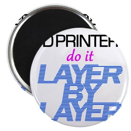 3D Printers do it layer by layer Magnet