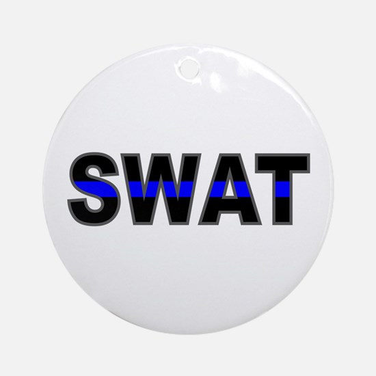 Blue Line SWAT Ornament (Round)