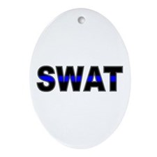 Blue Line SWAT Oval Ornament