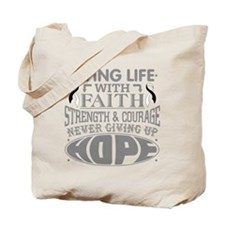 Carcinoid Cancer Faith Tote Bag