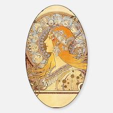 Alphonse Mucha - Zodiac Sticker (Oval)