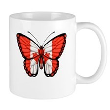Canadian Flag Butterfly Mugs