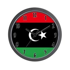 Flag of Libya Wall Clock