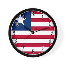 Flag of Liberia Wall Clock