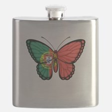 Portuguese Flag Butterfly Flask