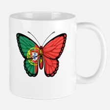 Portuguese Flag Butterfly Mugs
