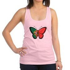 Portuguese Flag Butterfly Racerback Tank Top
