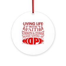 Blood Cancer Faith Ornament (Round)