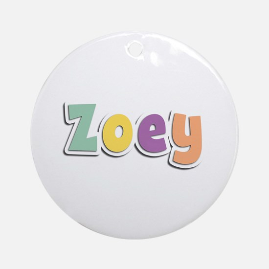Zoey Spring14 Round Ornament