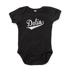 Delia, Retro, Baby Bodysuit