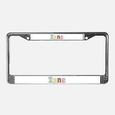 Zane Spring14 License Plate Frame