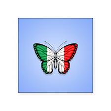Italian Flag Butterfly on Blue Sticker