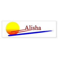 Alisha Bumper Bumper Sticker
