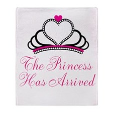 The Princess Has Arrived Throw Blanket