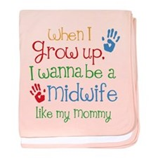 Midwife Like Mommy baby blanket
