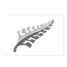 Tattoo silver fern (New Zealand kiwi emblem) Postc