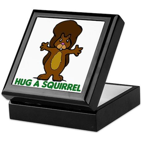 Hug a Squirrel Keepsake Box