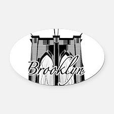 Brooklyn Bridge Oval Car Magnet