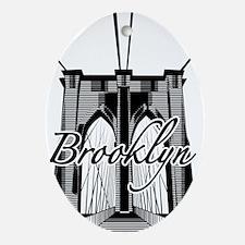 Brooklyn Bridge Oval Ornament