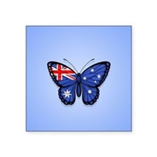 Australian Flag Butterfly on Blue Sticker