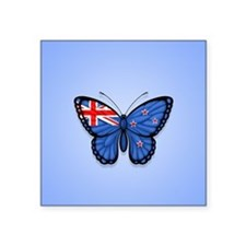 New Zealand Flag Butterfly on Blue Sticker