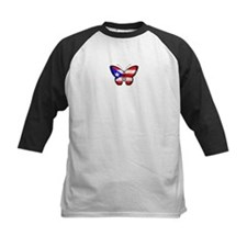 Puerto Rican Flag Butterfly Baseball Jersey