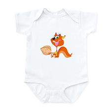 Happy Squirrel with Walnut Infant Bodysuit
