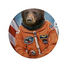 "Bear Astronaut 3.5"" Button"