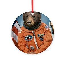 Bear Astronaut Round Ornament